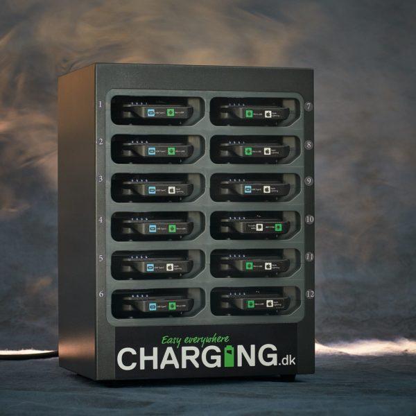 BOX12 - 12 Powerbanks med ladestation