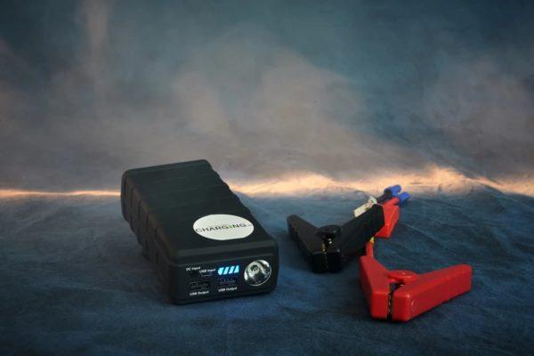 Start Booster og powerbank - 12.000 mAh 600 Amp
