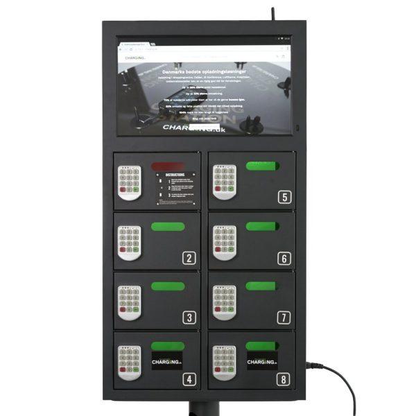 SAFE8 Værdiskab med opladning og 18,5 tommer LCD Skærm